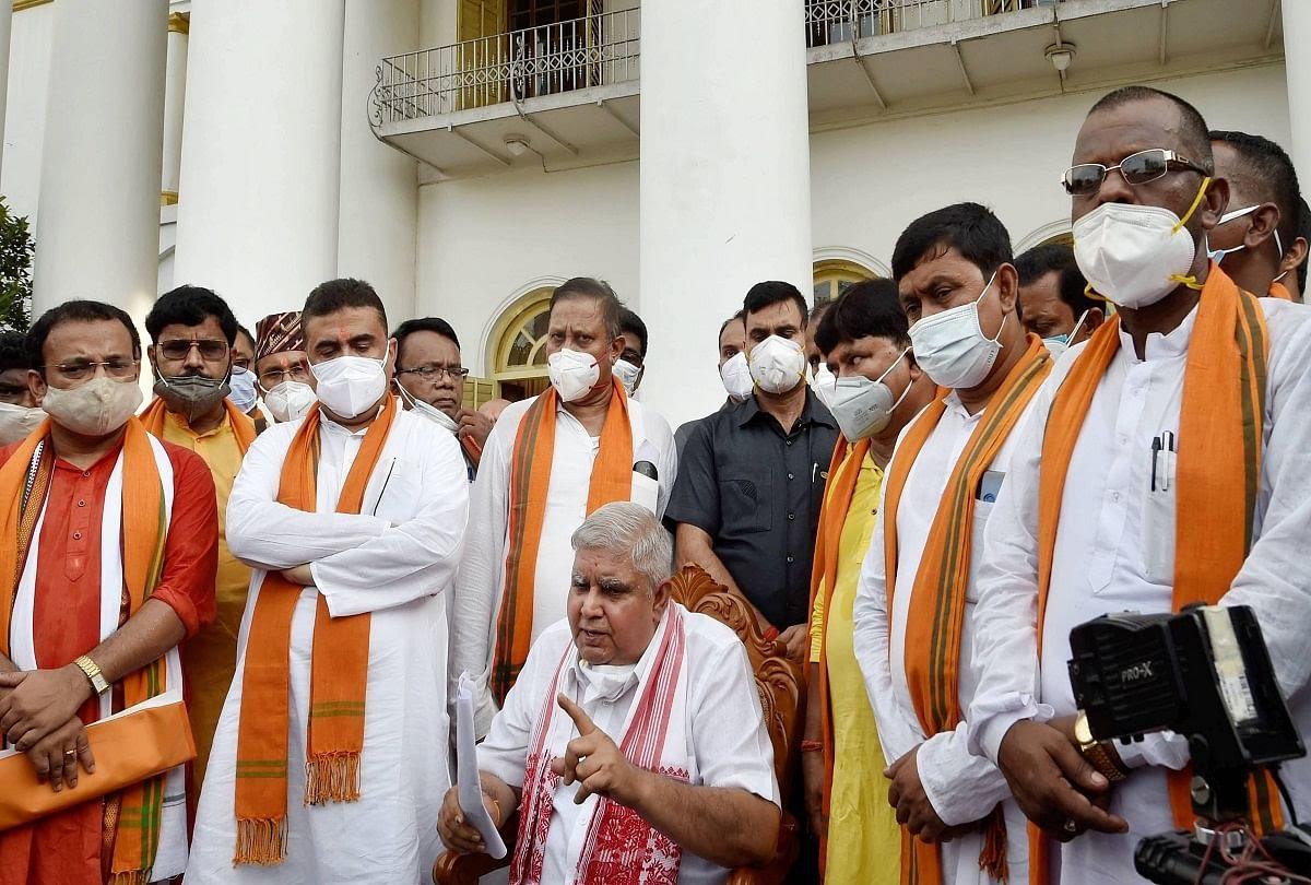 राज्यपाल के साथ सुवेंदु की बैठक से गायब रहे 24 भाजपा विधायक